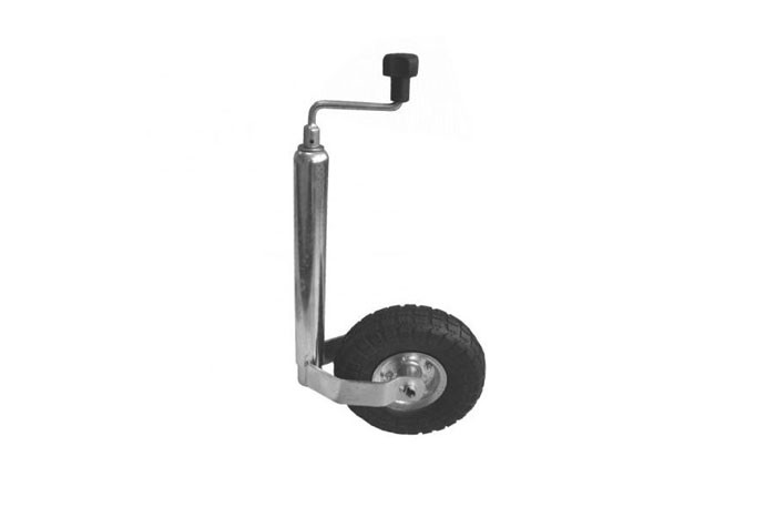 Stützrad Anhängerrad Bugrad 150 kg mit Luftbereifung Stützrad ø 48 mm