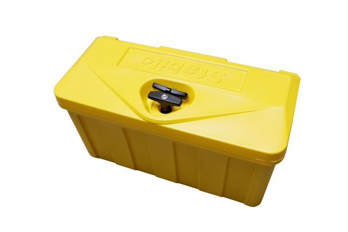 Kunststoff Transportkiste abschließbar in gelb