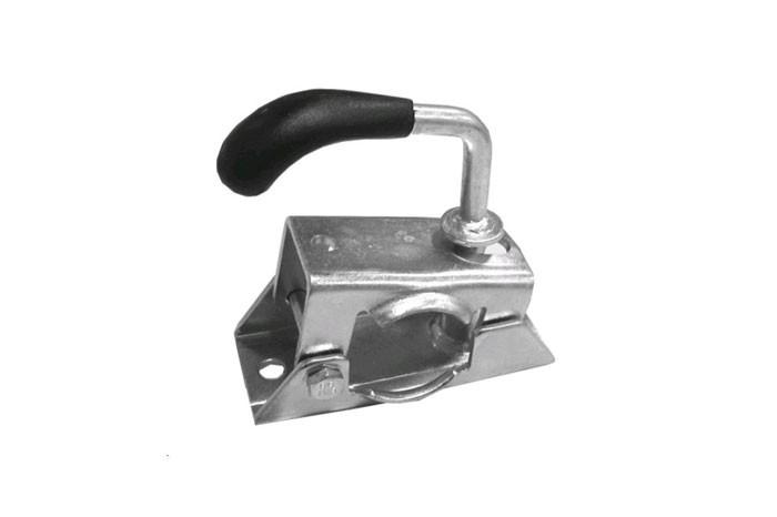 Stützradklemme Halter aus Blech für Stützrad Fallstütze oder Stützen ø 35 mm