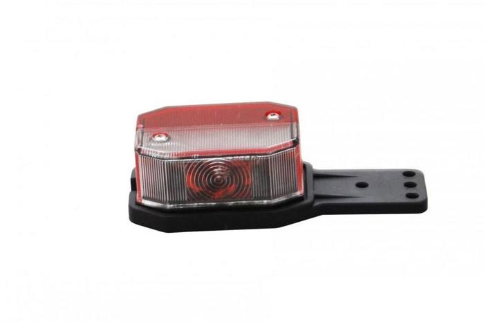 Positionsleuchten Aspöck Flexipoint 1 rot / weiss 0,5 m DC Kabel mit Gummihalter LINKS