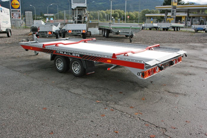 Verleih Autotransporter Vollaluminium 4,85 m HzGG. 3.000 kg
