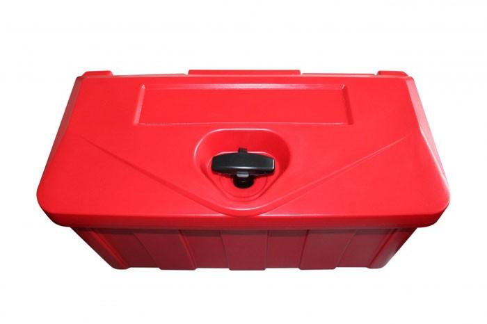 Kunststoff Transportkiste abschließbar in rot
