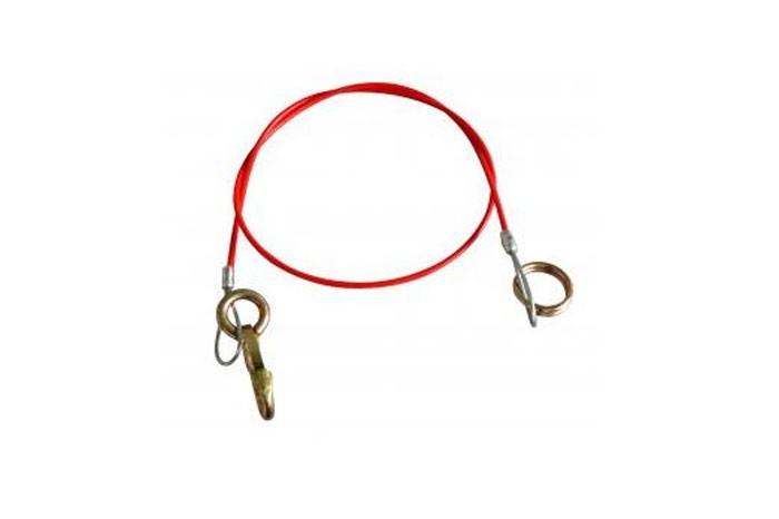 Abreißseil Bremsseil Fangseil mit Ring für gebremste Anhänger 1.055 mm