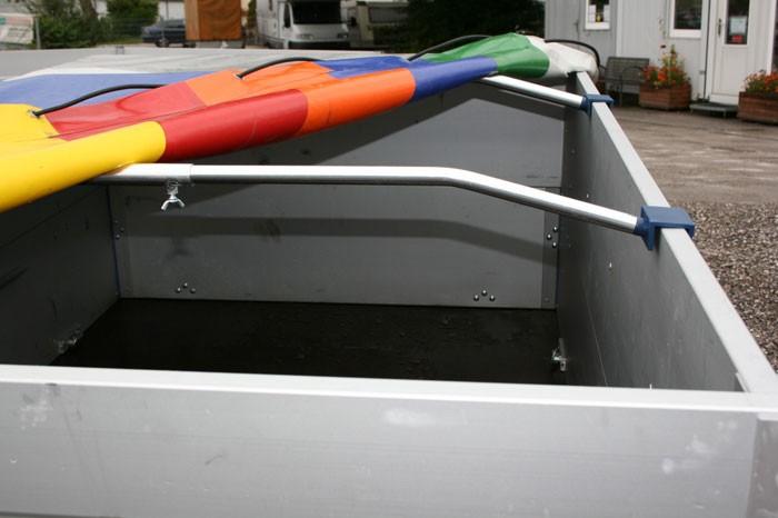 1 Stück Planenbügel, Bügel für Flachplane Alu 1.000 mm bis 1.450 mm U-Profil