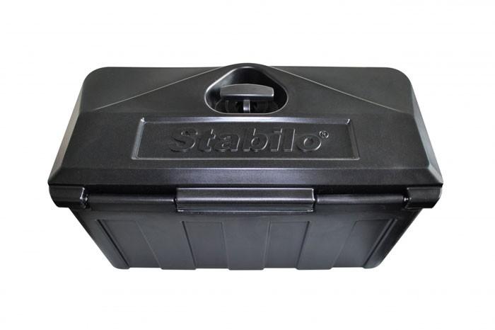 Kunststoff Transportkiste abschließbar in schwarz