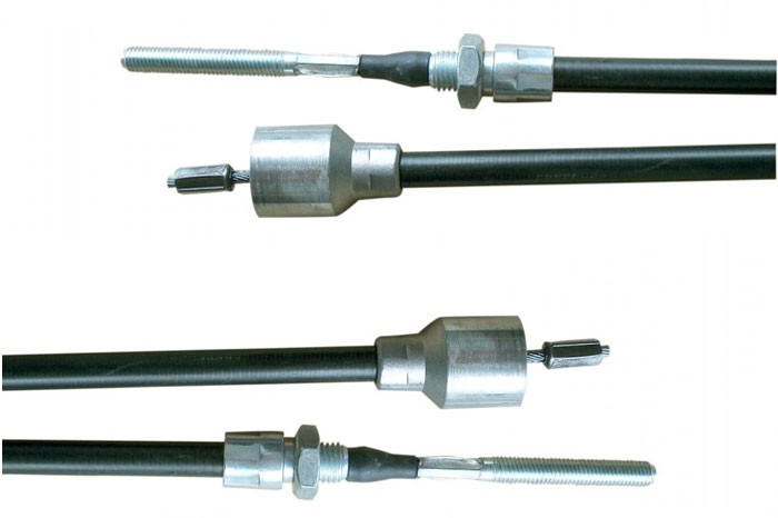 2 STÜCK Bremsseil Seilzug passend für AL-KO HL=770 mm / GL=980 mm Glocke 26 mm