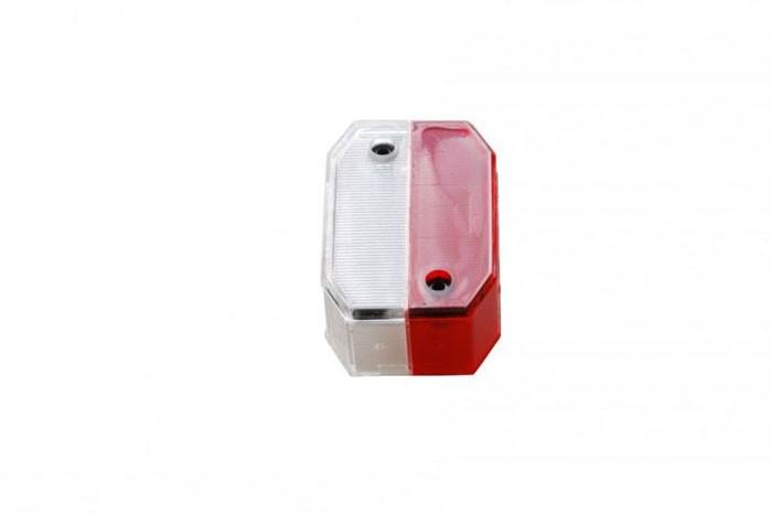 Ersatzglas Begrenzungs- Positionsleuchte Aspöck Flexipoint 1 rot / weiss