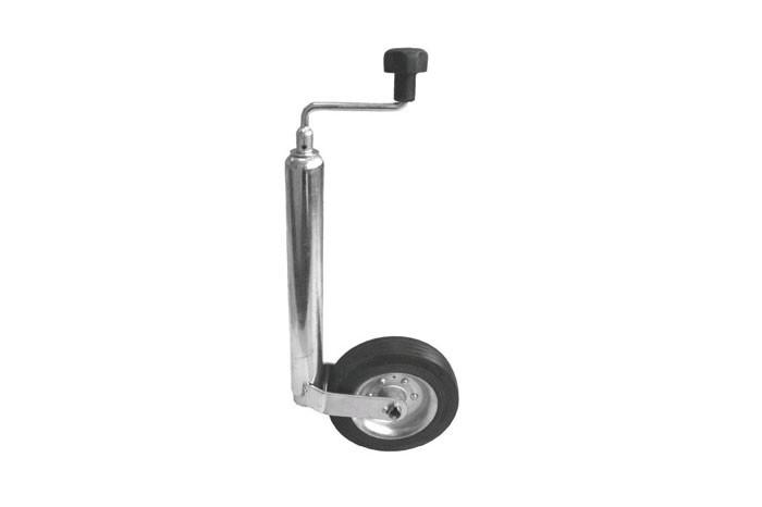 Stützrad Anhängerrad verlängerter Hub Bugrad 150 kg Stützrad ø 48 mm