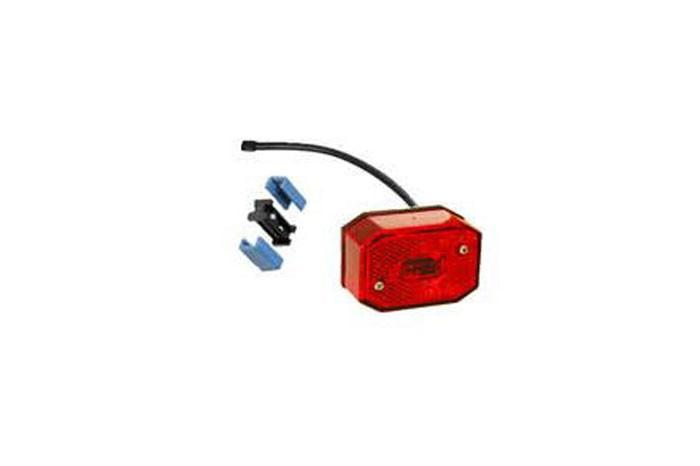 Positionsleuchten Aspöck Flexipoint 1 mit DC Kabel 0,5 rot