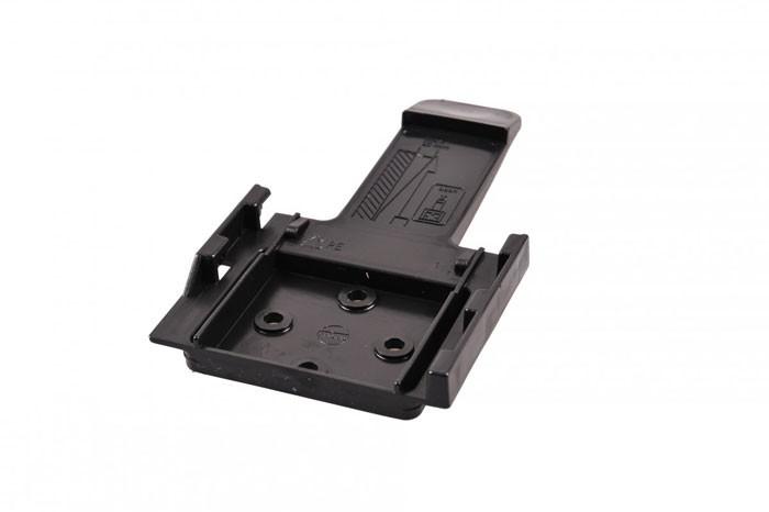 Halter für Unterlegkeil Bremskeil in schwarz aus Kunststoff