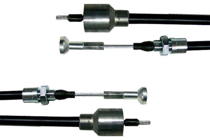 2 STÜCK Anhänger Bremsseile Bowdenzug HL=1430 mm / GL=1626 mm passend für ALKO zur Schnellmontage