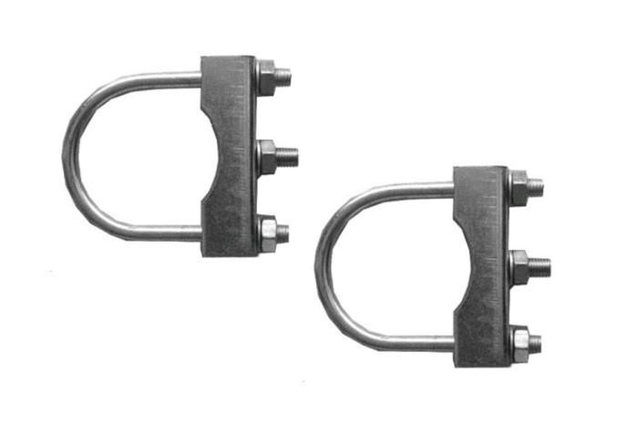 2 STÜCK Stützradhalterbefestigung für ø 60 mm Anhänger Deichselrohr rund