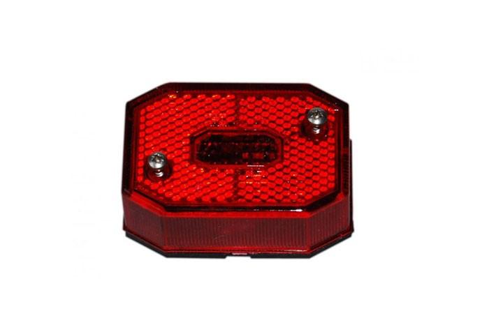 Positionsleuchten Aspöck Flexipoint 1 mit DC Kabel 0,5 rot montiert auf Halter