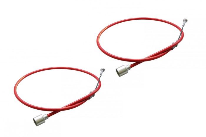 2 STÜCK Original AL-KO Longlife Bremsseile Bowdenzug 247284 HL=890 mm / GL=1086 mm zur Schnellmontage Pilz-C