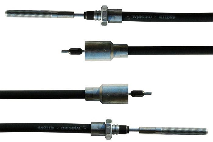 2 STÜCK Knott Bremsseil Seilzug HL=1.030 mm/GL=1.240 mm