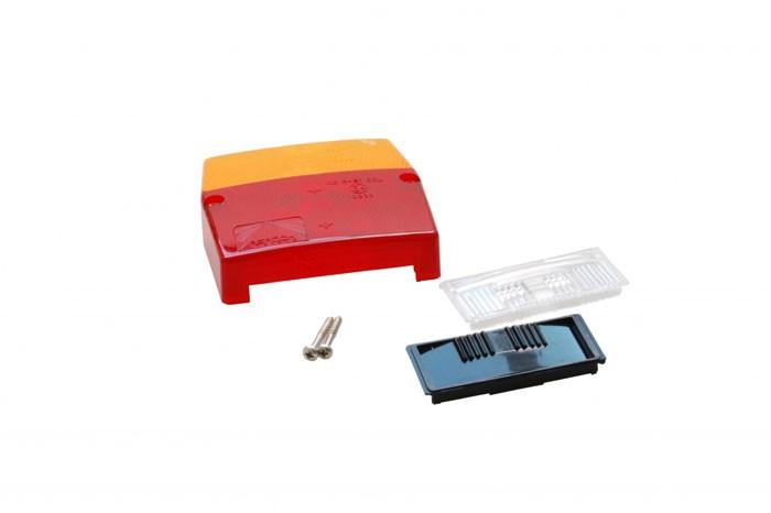 Ersatzglas Celon Aspöck Minipoint mit Kennzeicheneinsatz schwarz oder weiss