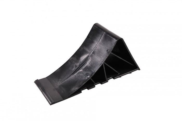 Unterlegkeil Bremskeil in schwarz aus Kunststoff