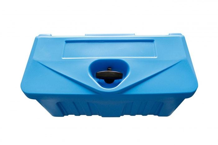 Kunststoff Transportkiste abschließbar in blau