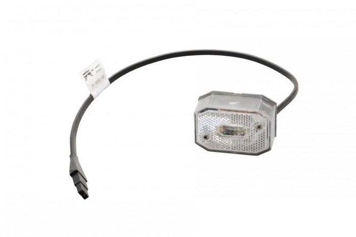 Positionsleuchten Aspöck Flexipoint 1 / 2 poliger Verbinder Kabel 0,5 m weiss