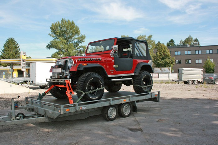 Verleih Autotransporter 4 m HzGG. 2.700 kg