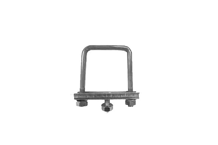 Stützradhalterbefestigung für 60 mm Seitenlänge Anhänger Deichselrohr eckig
