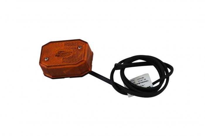 Seitenmarkierungsleuchte Aspöck Flexipoint 1 / 2 poliger Verbinder Kabel 0,5 m gelb