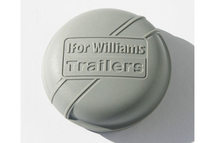 Ifor Williams Radkappe - Fettkappe - Staubkappe Ø 76 mm Kunststoff grau Nabendeckel